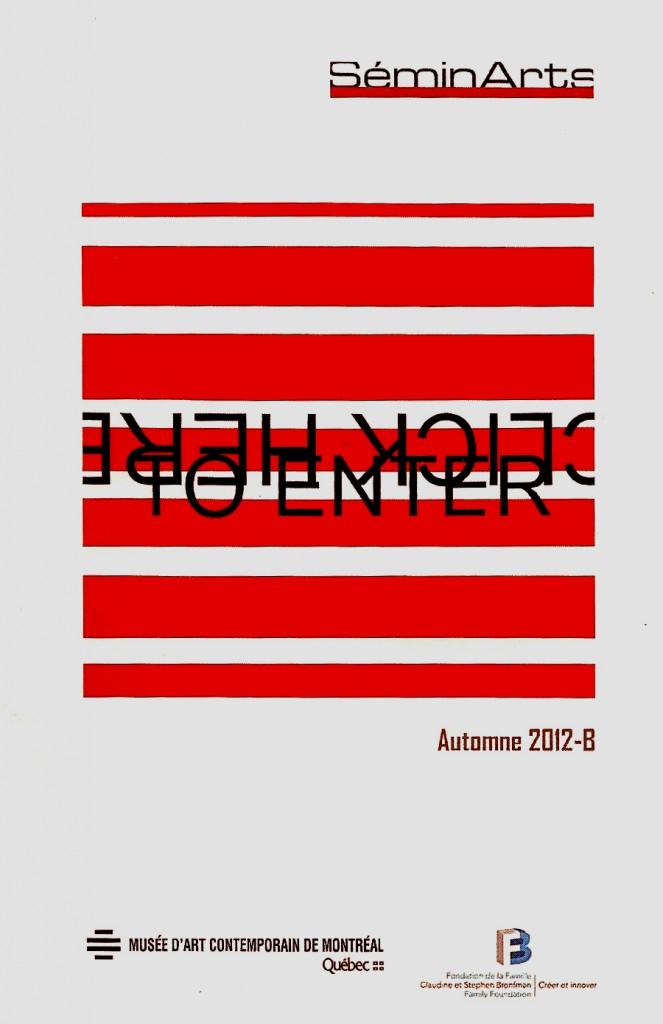 """Catalogue SéminArts: """"Rencontre avec l'artiste Véronique Savard et visite de son atelier"""" : Musée d'art contemporain de Montréal"""